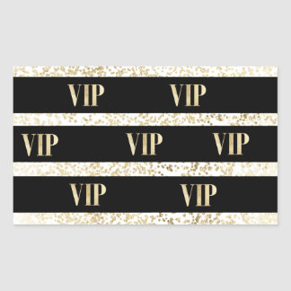 Chic black and gold confetti stripe VIP Sticker