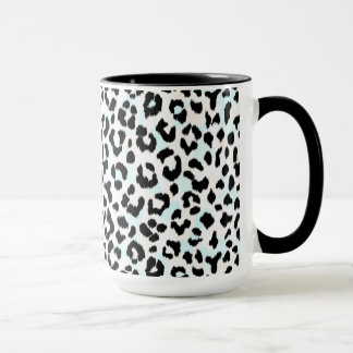 Chic black and white cheetah print mug