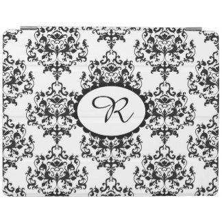 Chic Black and White Damask iPad Cover