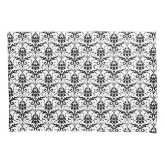 Chic Black and White Damask Pillow Case Pillowcase