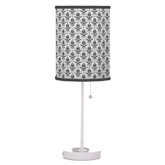 Chic Black and White Damask Table Lamps