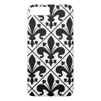Chic Black and White Fleur de Lis iPhone 8 Plus/7 Plus Case