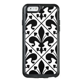 Chic Black and White Fleur de Lis OtterBox iPhone 6/6s Case