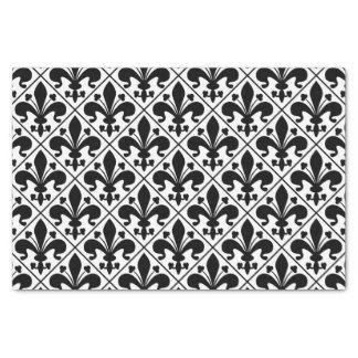 Chic Black and White Fleur de Lis Tissue Paper