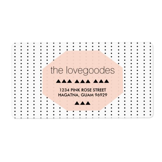 Chic Black and White Geometric Dots Address Labels