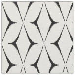Chic black and white ikat tribal pattern fabric
