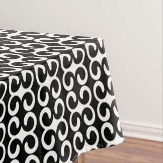 Chic Black and White Modern Pattern Tablecloth