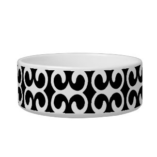 Chic Black and White Pattern Bowl