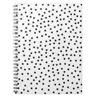 Chic Black and White Polka Dot Trendy Stylish Not Notebook