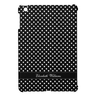 Chic Black and White Polka Dots Pattern iPad Mini Covers