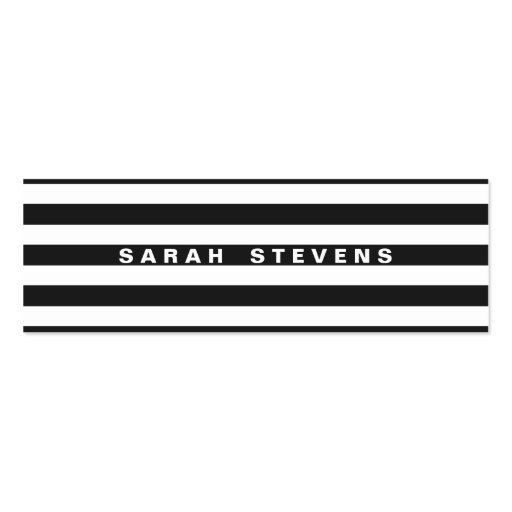 Chic Black and White Striped Modern Salon & Spa Business Cards