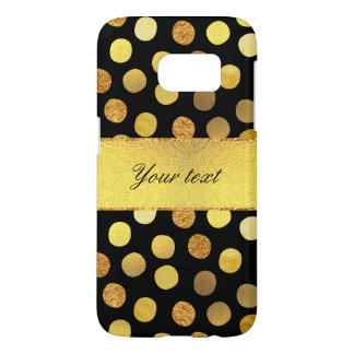 Chic Black Gold Foil Confetti Dots Samsung Galaxy S7 Case