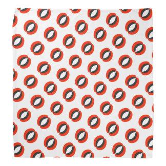 Chic Black Red White Pattern Bandana