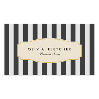 Chic Black Stripes Business Cards
