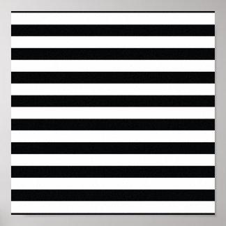Chic Black & White Stripes Poster