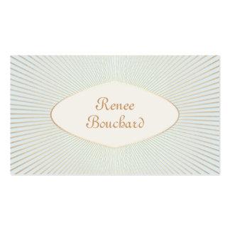 Chic bleu sage d'or de lumière vintage élégante de carte de visite standard