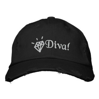 chic bling diamond diva embroidered cap