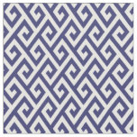 Chic blue and white greek key geometric pattern fabric