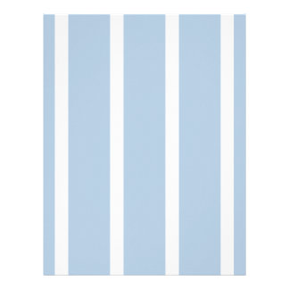Chic Blue and White Stripes! Letterhead