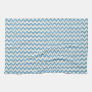 Chic  Blue   Chevron Stripes Hand Towels