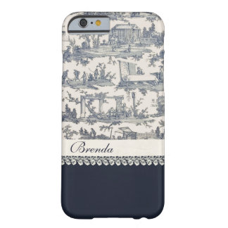 Chic Blue French Toiles Custom iPhone 6 Case