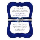 Chic Blue Jewelled Snowflake Wedding Invitation