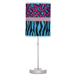 Chic Blue/Pink Zebra & Leopard Lamp