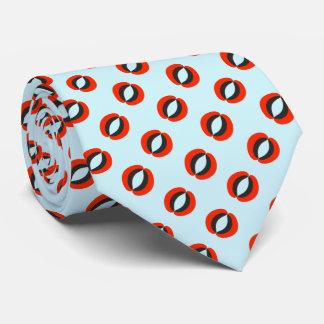 Chic Blue Red Black Pattern Tie