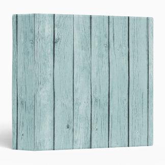 Chic Blue Rustic Wood 3 Ring Binders