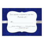 "Chic Blue Snowflakes Wedding RSVP Card 3.5"" X 5"" Invitation Card"