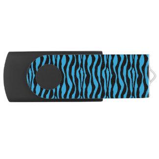 Chic Blue Zebra Print USB USB Flash Drive
