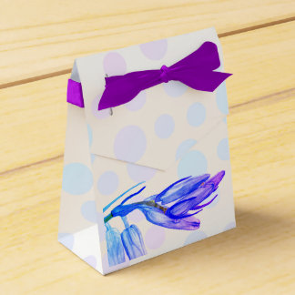 Chic Bluebell Watercolour Painting  Favor Box