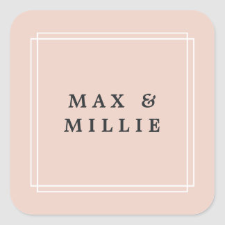 Chic Blush | Boutique Square Sticker