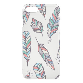 Chic Bohemian Feathers Pattern iPhone 7 Clear iPhone 7 Case