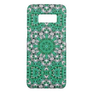 chic bohemian Kaleidoscope emerald green mandala Case-Mate Samsung Galaxy S8 Case