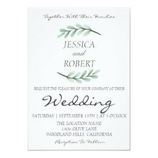 Chic Boho Branch Wedding Invitation