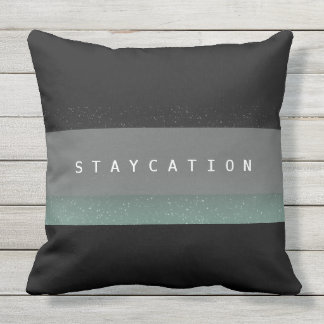 Chic Bold Staycation Outdoor Decor Pillow