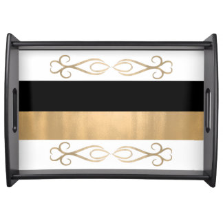 Chic Bold Stripes Serving Tray