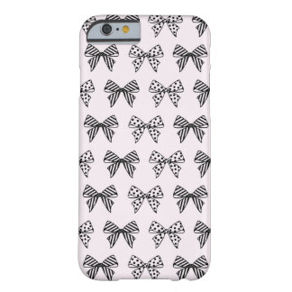 Chic Bow Pattern in Pastel Pink iPhone 6 Case