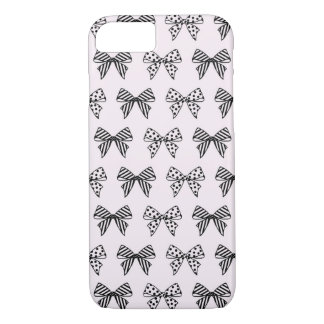Chic Bow Pattern in Pastel Pink iPhone 7 Case