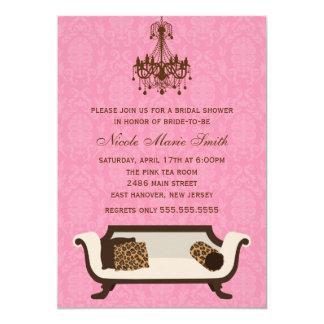 "Chic Bridal Shower 5"" X 7"" Invitation Card"