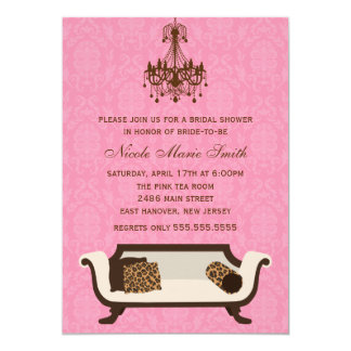 Chic Bridal Shower 5x7 Paper Invitation Card
