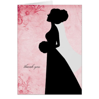 Chic Bridal Silhouette Thank You Notes