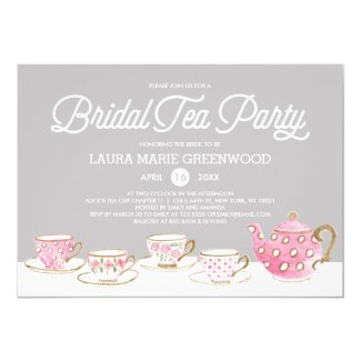Chic Bridal Tea Party | Bridal Shower Invitation