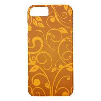 Chic brown floral heart iPhone 8/7 case