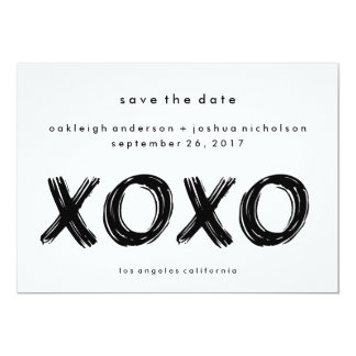 Chic Brush Stroke | XOXO Simple Save the Date Card