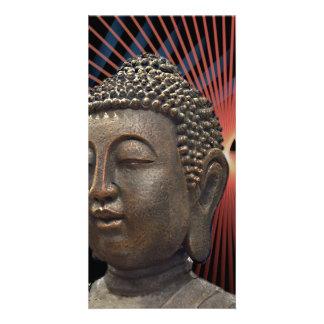 Chic Buddha Yoga Style Photo Greeting Card