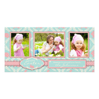Chic Bunny Photo Trio Card