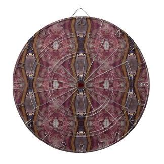 Chic Burgundy Rose Modern Tribal Pattern Dartboard