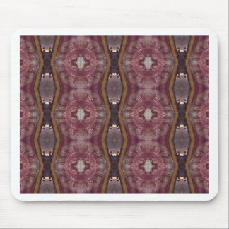 Chic Burgundy Rose Modern Tribal Pattern Mouse Pad